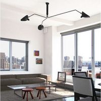 Employments of Drop Serge Mouille Ceiling Light Panels